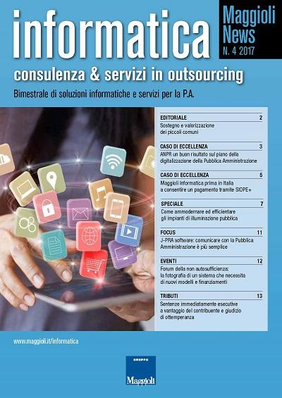 Informatica: consulenza & servizi in outsourcing Bimestrale di soluzioni informatiche e servizi per la P.A.