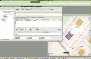 Esempio di visualizzazione nella cartografia di una pratica edilizia – J-PE