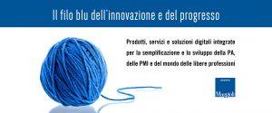Il filo blu dell'innovazione e del progresso